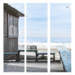 Triptyques Toile de transat – Collection Cabane