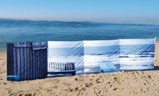 Paravent de plage 4 x 0,75 m – Collection Cabane