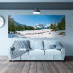 Décor mural extérieur  2 x 0,8 m – Collection Montagne