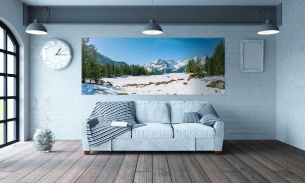 Byzab - Bache de décoration outdoor sur paysage de montagne suisse