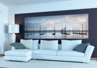 Décor mural extérieur  2 x 0,8 m – Collection Bassin – Parcs à huîtres marée haute