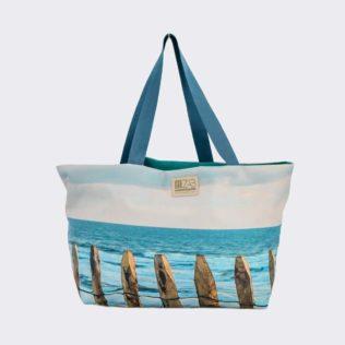 Sac marin cabas réversible Turquoise