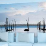 Décor mural extérieur – Parcs à huîtres marée haute – Collection Bassin