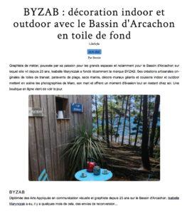 Bernieshoot : BYZAB : décoration indoor et outdoor avec le Bassin d'Arcachon en toile de fond