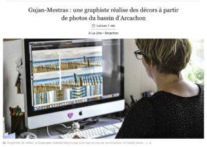 SUD OUEST : Gujan-Mestras : une graphiste réalise des décors à partir de photos du Bassin d'Arcachon