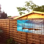 Décor mural extérieur 2 x 0,8 m – Collection Bassin