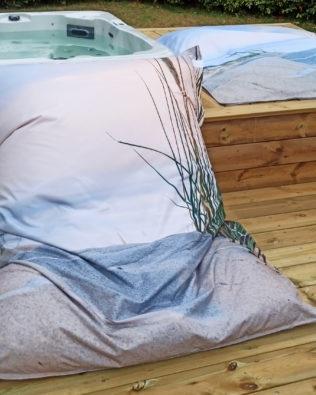 Coussin géant d'extérieur Sable – Collection Grand Large