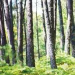 Décor mural extérieur vertical – Forêt – Collection Forêt